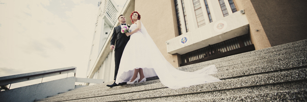 Karolina i Krzysztof e dniu ślubu